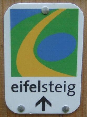 Eifelsteig - trail marker on the Eifelsteig