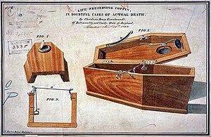 cercueil avec clochette
