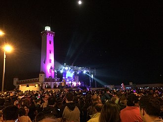 "La Serena, Chile - 2015 New Year's Celebration at the Lighthouse (""el Faro"")."