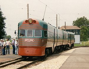 Electroliner - Passengers boarding the restored Electroliner at the Illinois Railway Museum.