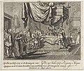 Elisabetta Farnese in het kraambed Op den 25 Iuly 1727 is de Koningin van Spanjen in de kraam bevallen van een Prins (titel op object), RP-P-1907-2137.jpg