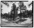 Elk Mountain campground. View E. - Wind Cave Roads and Bridges, Hot Springs, Fall River County, SD HAER SD-55-19.tif