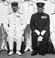 Emperor Shōwa (Hirohito) and Tsuneo Matsudaira aboard Battleship Musashi - 24 June 1943.jpg
