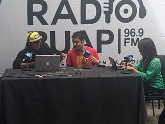 XHBUAP-FM - A Radio BUAP live remote in 2014