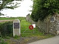 Entrance to the Carreglefn and District War Memorial Playing Field - geograph.org.uk - 1321763.jpg