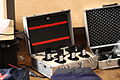 Equipment from the July 2010 Wikipedia video project set.jpg