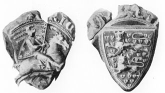 Coat of arms of Schleswig - The first known example of the insignia: the seal of Erik Abelsøn, Duke of Schleswig (d. 1272)