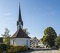 Erlen TG - Hauptstrasse mit Evangelisch-reformierter Kirche.jpg