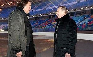 Konstantin Ernst - Konstantin Ernst with Vladimir Putin
