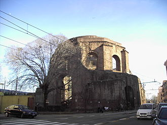 Esquiline Hill - The nymphaeum called the Temple of Minerva Medica, on the Esquiline Hill.