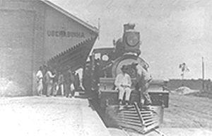 Uberlândia - Mogiana Uberlândia Railroad Station in 1895