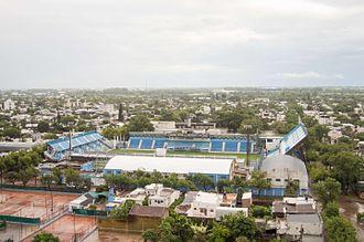 Estadio Nuevo Monumental - Vista aerea del Estadio Nuevo Monumental de Atletico de Rafaela.