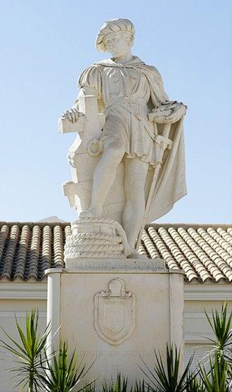 Martín Alonso Pinzón - Statue of Pinzón in Palos de la Frontera