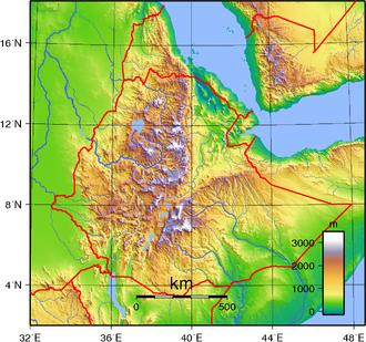 Geography of Ethiopia - Ethiopia's topography.