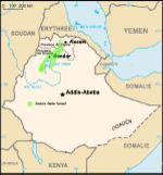 Areas inhabited by Ethiopian Jews before their mass aliyah.