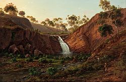 Eugene von GUÉRard - Waterfall on the Clyde River, Tasmania - Google Art Project.jpg