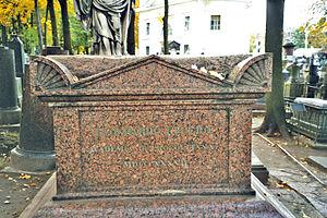 Leonhard Euler - Euler's grave at the Alexander Nevsky Monastery