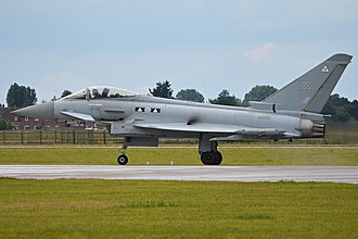 No. 2 Squadron RAF - Eurofighter Typhoon FGR4 ZK300 seen in No. 2 Squadron markings.