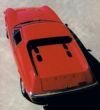 Lotus Europa - Lotus Europa S2 from above (1968 model)