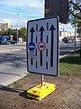Evropská, vyznačení jízdních pruhů u Červeného Vrchu.jpg