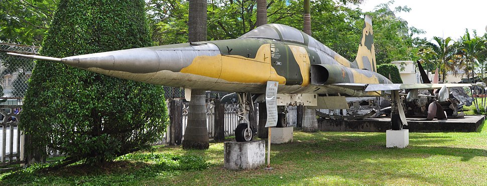 F5E FIGHTER PLANE at Museum of Ho Chi Minh Campaign, HCMC, Vietnam