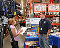 FEMA - 44559 - FEMA mitigation specialists being intereviewd by the media at a home products store in Tennessee.jpg