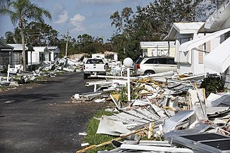 Effects of Hurricane Irma in Florida - Debris at a mobile home park in Fort Myers