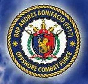 BRP Andrés Bonifacio (FF-17) - Image: FF17 Badge