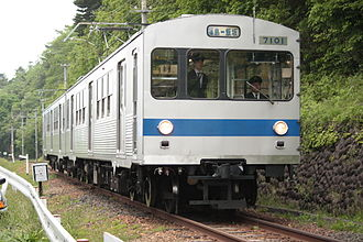 Fukushima Transportation - Former Tokyu 7000 series operating on the Iizaka Line