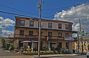 Fries's Rebellion - The Red Lion Inn in Quakertown, a central point of Fries's Rebellion