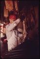FUR SKINS BEING PREPARED AT A BUYING SHED IN LEAKEY, TEXAS NEAR SAN ANTONIO - NARA - 554941.tif