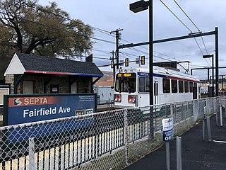 Fairfield Avenue station SEPTA trolley station