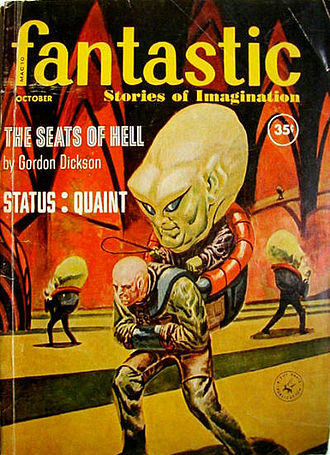 "Gordon R. Dickson - Dickson's novelette ""The Seats of Hell"", cover-featured on the May 1959 issue of Fantastic, was collected in Beginnings"