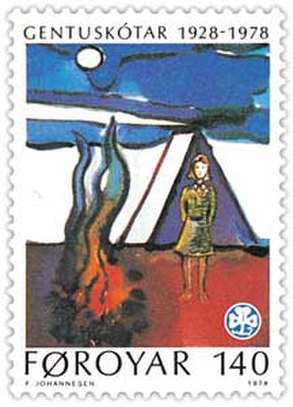 Scouting memorabilia collecting - Girl Guides commemorative postage stamp