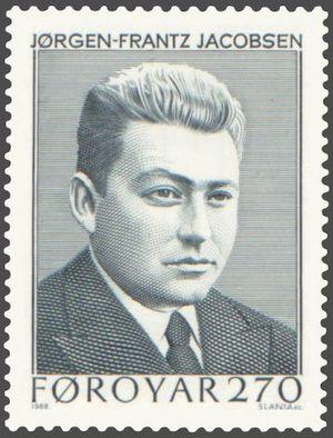 Jørgen-Frantz Jacobsen - Stamp of Jørgen-Frantz Jacobsen