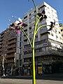 Farolas con forma de flores en Jaén. Obra del escultor José Ríos. 04.jpg