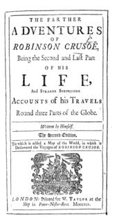 1719 novel by Daniel Defoe