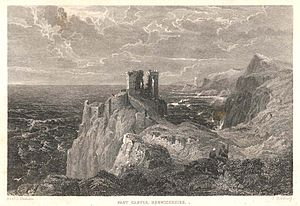 Robert Logan of Restalrig - 19th-century engraving of Fast Castle, involved in Robert's plot to adbduct James VI of Scotland