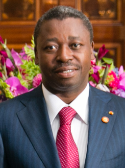 Current president of Togo Faure Gnassingbe since 2005 Faure Gnassingbe 2014.png