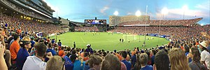 Nippert Stadium - Nippert hosting an FC Cincinnati match in 2017 after the field expansion