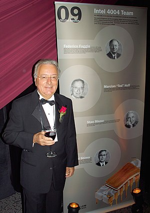 Federico Faggin - Faggin at the Computer History Museum's 2009 Fellows Award event