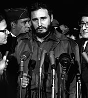 Castro arrives in Washington, D.C. on April 15, 1959.