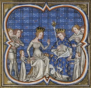 Constance of France, Princess of Antioch - Philip, Bertha, Louis (with Philip) and Constance (with Bertha)