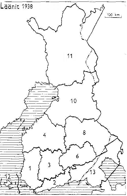 Finnish counties 1938