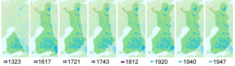 Finlands gränser genom tiderna