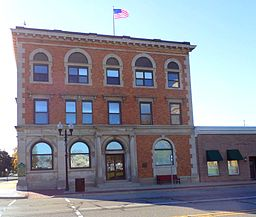 The First National Bank of Corunna.