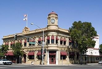 Oakdale, California - Victorian era First National Bank of Oakdale building in downtown Oakdale.