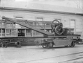Five ton hand crane on a wagon at the Petone Railway Workshops ATLIB 272940.png