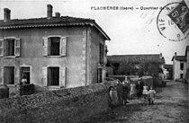 Flachères, quartier de la mairie en 1913, p 86 de L'Isère les 533 communes.jpg
