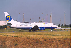 Flash airlines boeing 737 3Q8 CDG - ROISSY.jpg